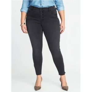 Rockstar High-Rise Faded Black Slim Plus-Size 30-R